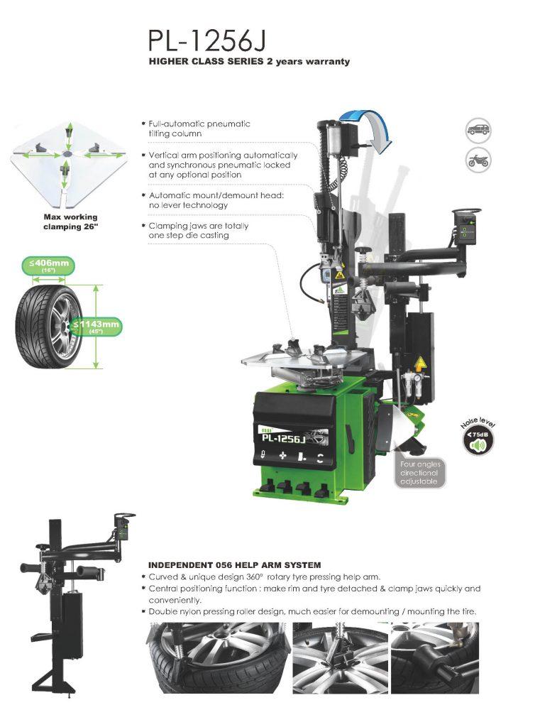 PL-1256J Arm Wheel Clamp Tire Changer