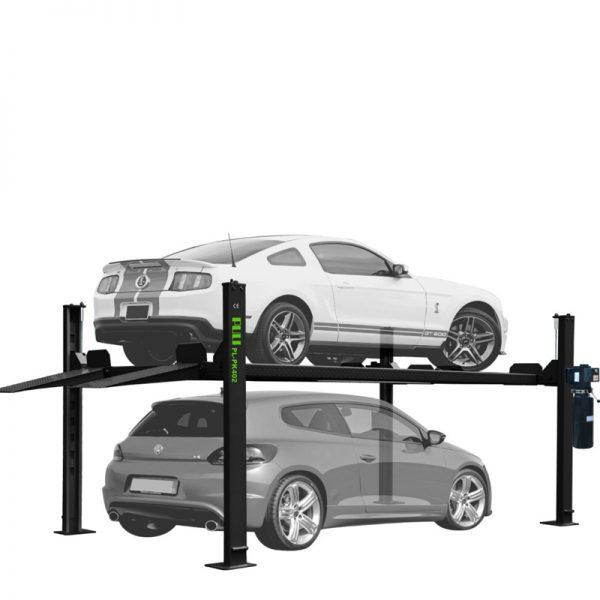 PL-PK402 Four Post Parking Lift 7,000-lb. Capacity Short Runways Extra-Wide, Extra-Tall Car Lift