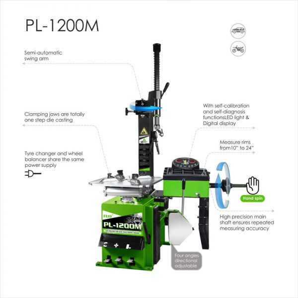 PL-1200M ALL-IN-ONE Tyre Changer & Wheel Balancer