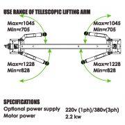 PL-3.5-2E Baseplate 2 Post Lift