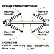 PL-4.0-2D Baseplate 2 Post Lift