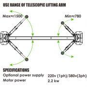 PL-4.5-MP Overhead 9,900 lb Capacity 2 Post Lift