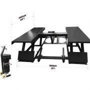 PL - H30M Portable 5,511 Lbs. Capacity Mid Rise Scissor Car Lifts