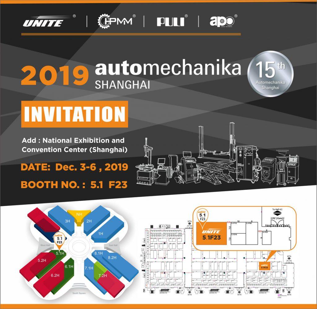Unite Invitation for Automechanika Shanghai 2019