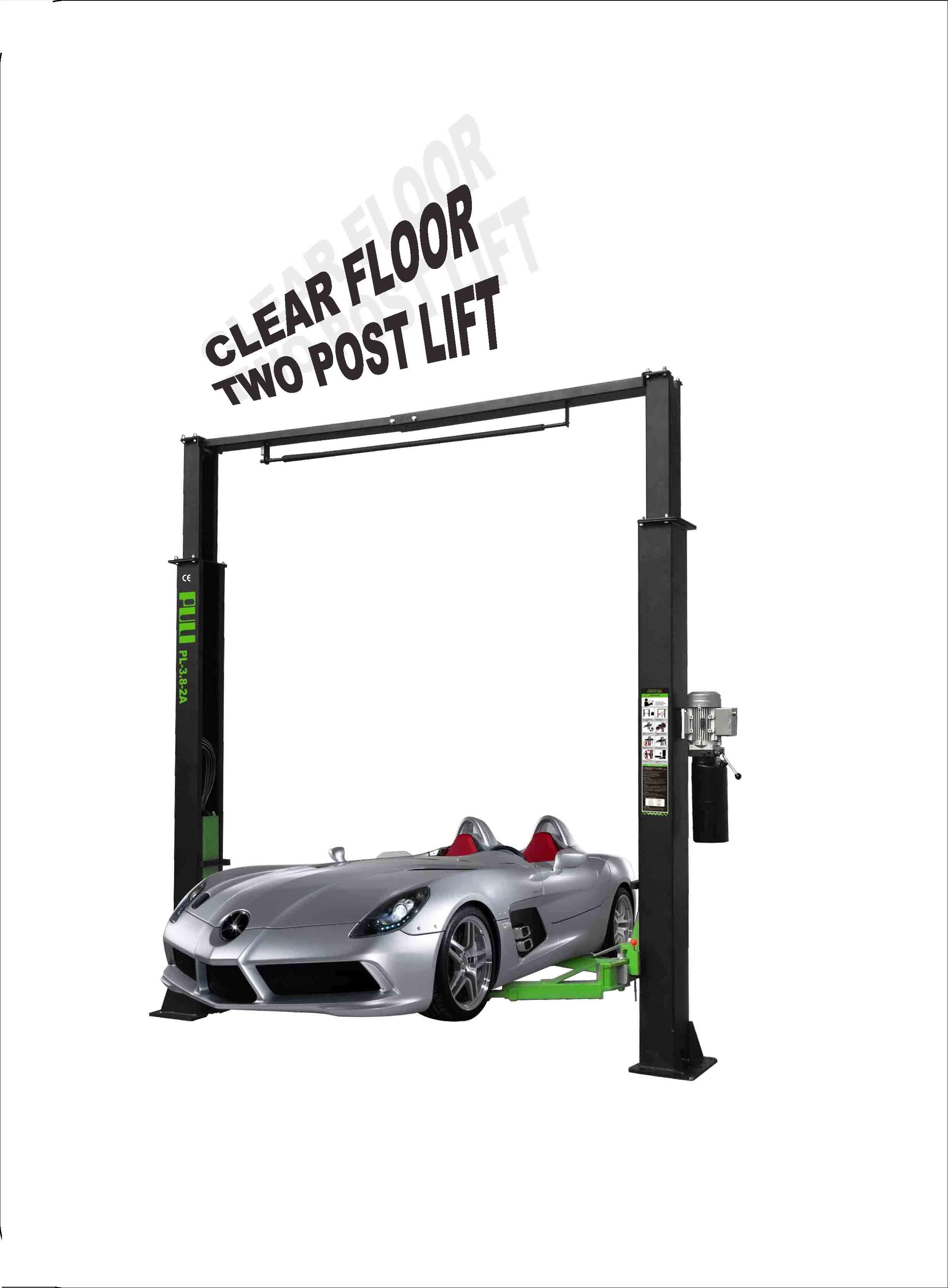 Glear Floor Two Post Lift