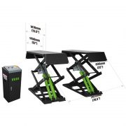 PL-B30 / PL-B30Y 6,600 Lbs. Capacity Small Platform Full Rise Scissor Lift Surface Mounted Type